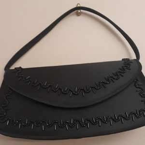 Small black beaded purse
